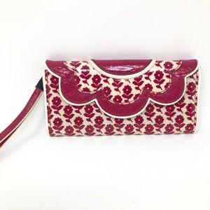 Vera Bradley Fuschia Pink Trifold Wallet Wristlet